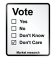 Market Research Vote Sign vector image