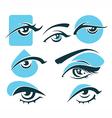 eye and vision symbols vector image