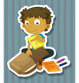 Packing bag vector image vector image