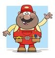 Waving Mechanic Cartoon vector image vector image