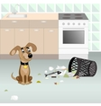 Dog looking for food vector image