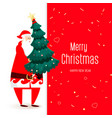 big congratulatory signboard with santa vector image