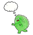 cartoon monster with thought bubble vector image