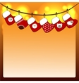 Christmas stockings on a rope vector image