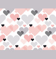 heart shape modern seamless pattern in geometry vector image