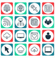 set of 16 world wide web icons includes followed vector image