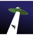 UFO abduction vector image vector image