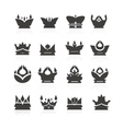 crown set for halloween vector image