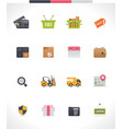 e-commerce icon set vector image vector image