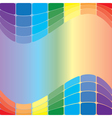 colorful wavy background vector image vector image