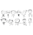 Doodle design of kids playing with the different vector image vector image