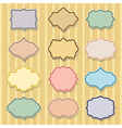 set of color frames vector image vector image