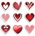 heart stickers vector image vector image