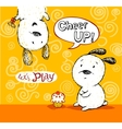 Cheer up card to friend with cute puppies vector image