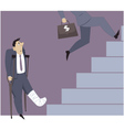 Disable person and a career ladder vector image