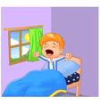 Little boy woke up and yawns vector image