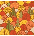 Background with autumn trees vector image