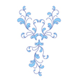 blue flower ornament vector image