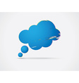 Cloud shaped speech bubble vector image