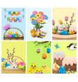 easter festive cartoon concepts collection vector image