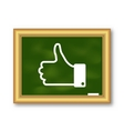 Icon of Thumb Up on School Board vector image