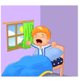 Little boy woke up and yawns vector image