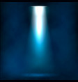 searchlight in the fog vector image