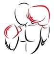 Symbol boxer vector image vector image