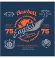 Baseball logo emblem badge and design elements vector image