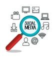 set social media design isolated vector image
