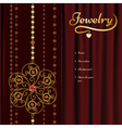 Jewelry background vector image vector image