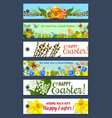 easter holiday floral tag and gift label set vector image