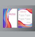 abstract modern wavy colorful flowing flyer vector image