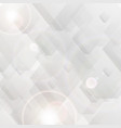 grey tech polygon abstract background vector image