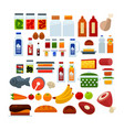 delicious food and cool drinks big vector image