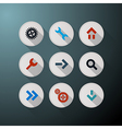 Web Icons Set on Dark Background vector image