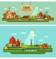 Farm and city Set of elements - tractor farmer vector image