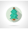 Christmas tree round icon vector image