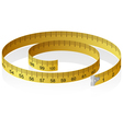 measuring tape with reflection vector image