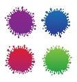 Beautiful color grunge ink splash vector image