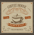 coffee house retro background premium quality vector image