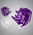 Rhino logo emblem vector image