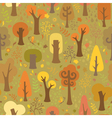 Seamless autumnal pattern vector image