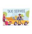 taxi service poster vector image