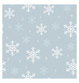 Seamless pattern snowflakes blue vector image