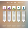 Timeline Infographics Design with Five Options vector image vector image