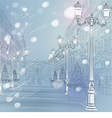 Christmas cityscape vector image