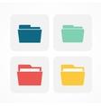 Folder icons vector image