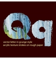 grungy letter Q vector image