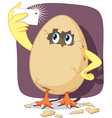 Baby Chick Hatching from Egg Shell Takes Selfie vector image